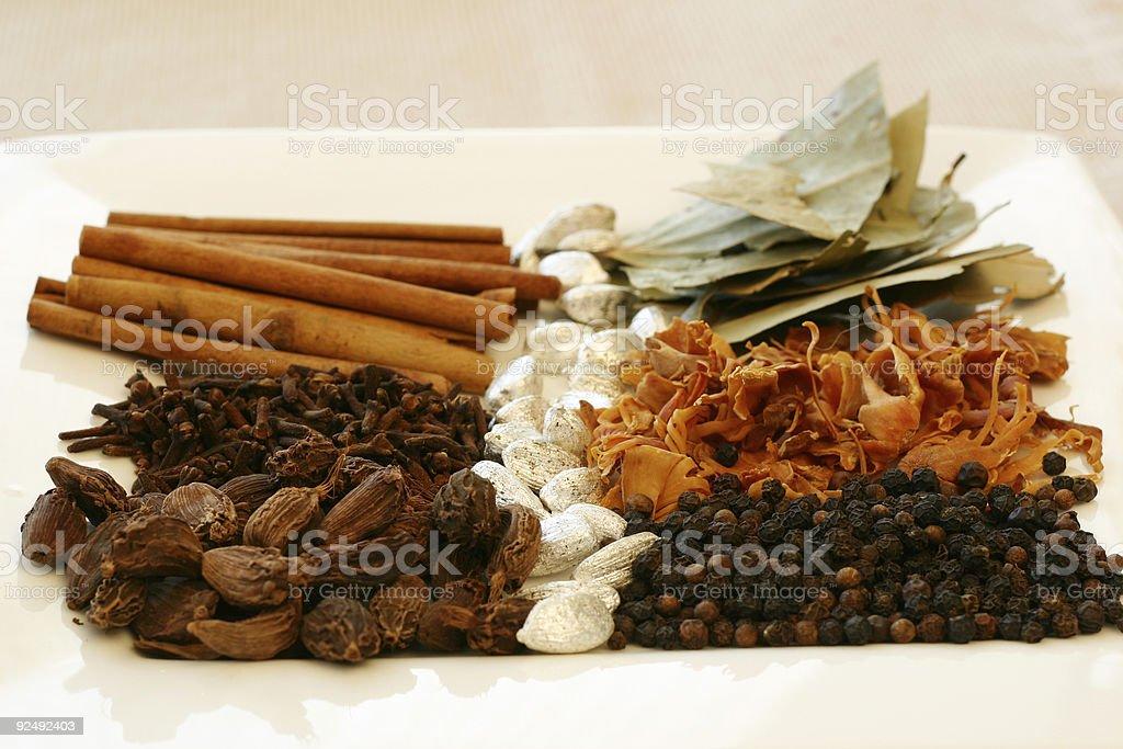 Indian Spice Tray royalty-free stock photo