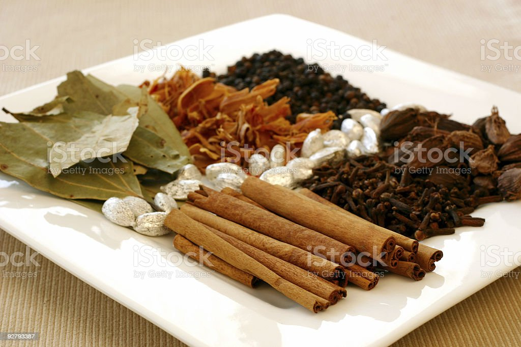 Indian Spice Tray royalty-free stock photo