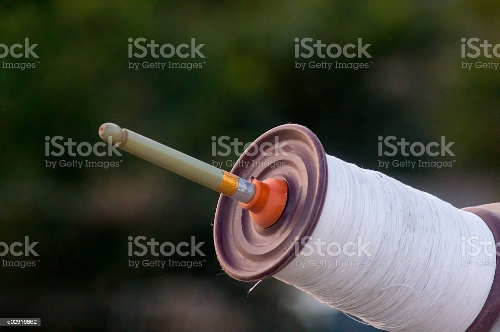 Indian spool for kite fighting stock photo