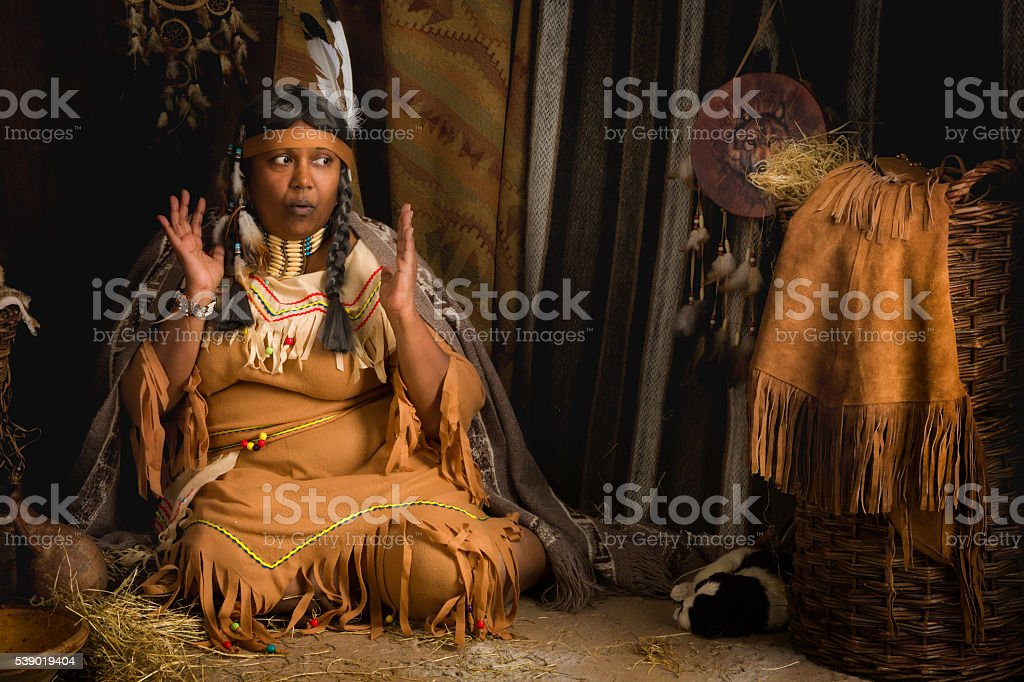 Indian storyteller stock photo