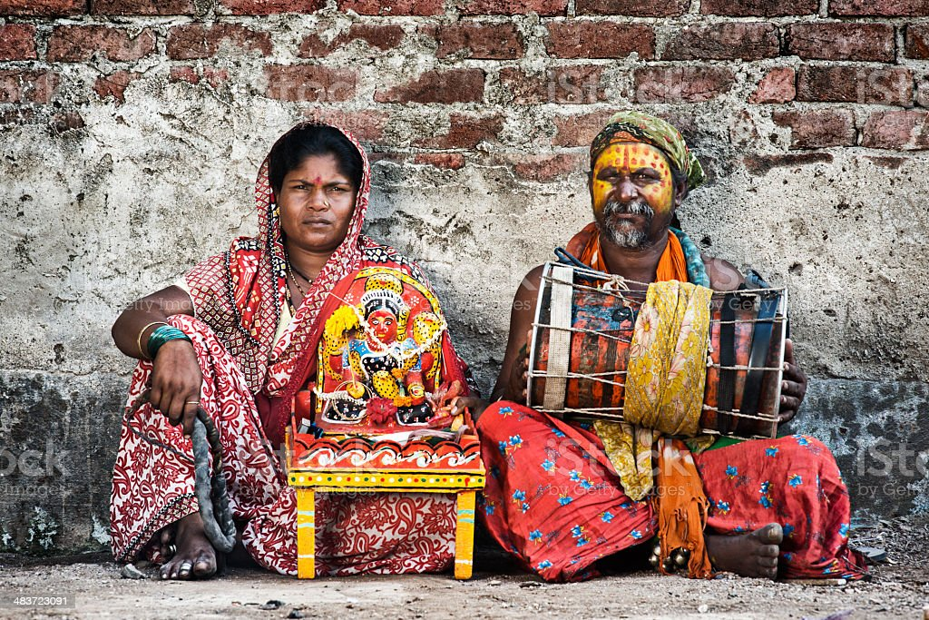 Indian street artists stock photo