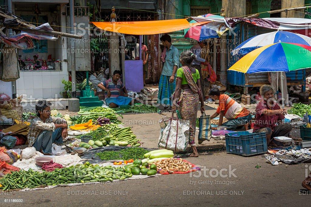 Indian street market royalty-free stock photo