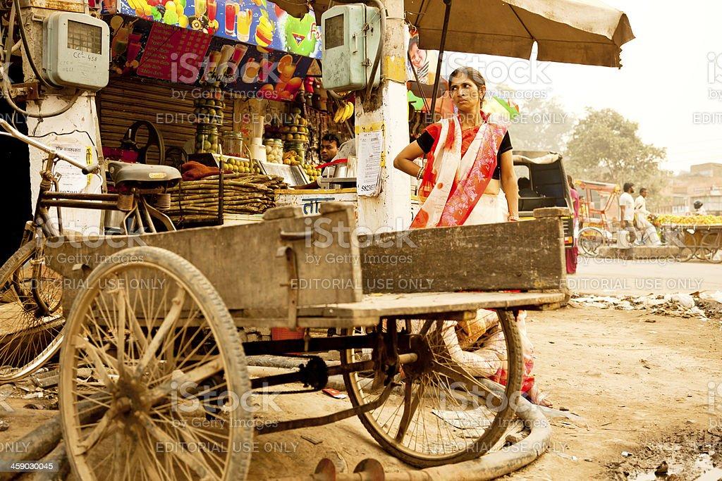 Indian street Scene royalty-free stock photo
