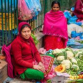 Indian street sellers in Kathmandu, Nepal