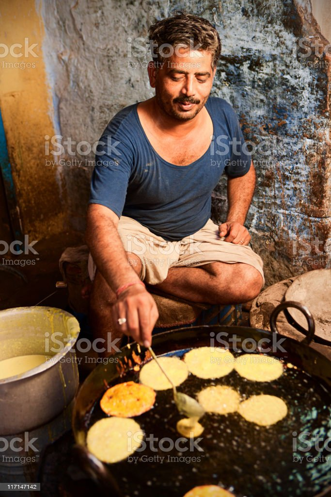 Indian street vendor royalty-free stock photo