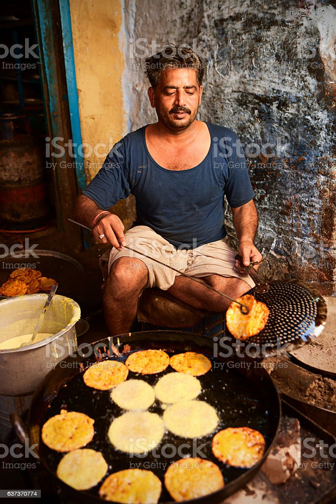 Indian street vendor stock photo