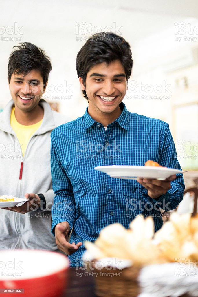 Indian Students in Canteen stock photo
