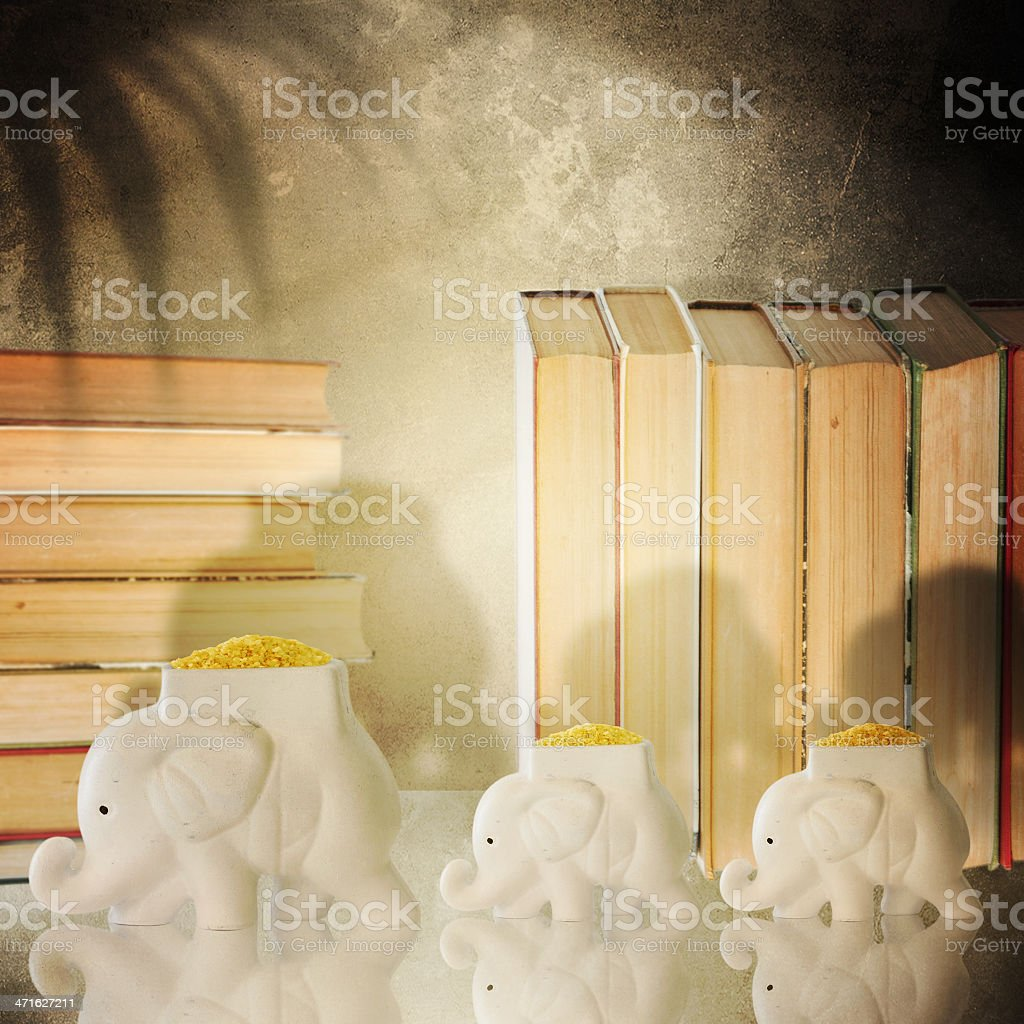 Indian style. Interior with elephants royalty-free stock photo