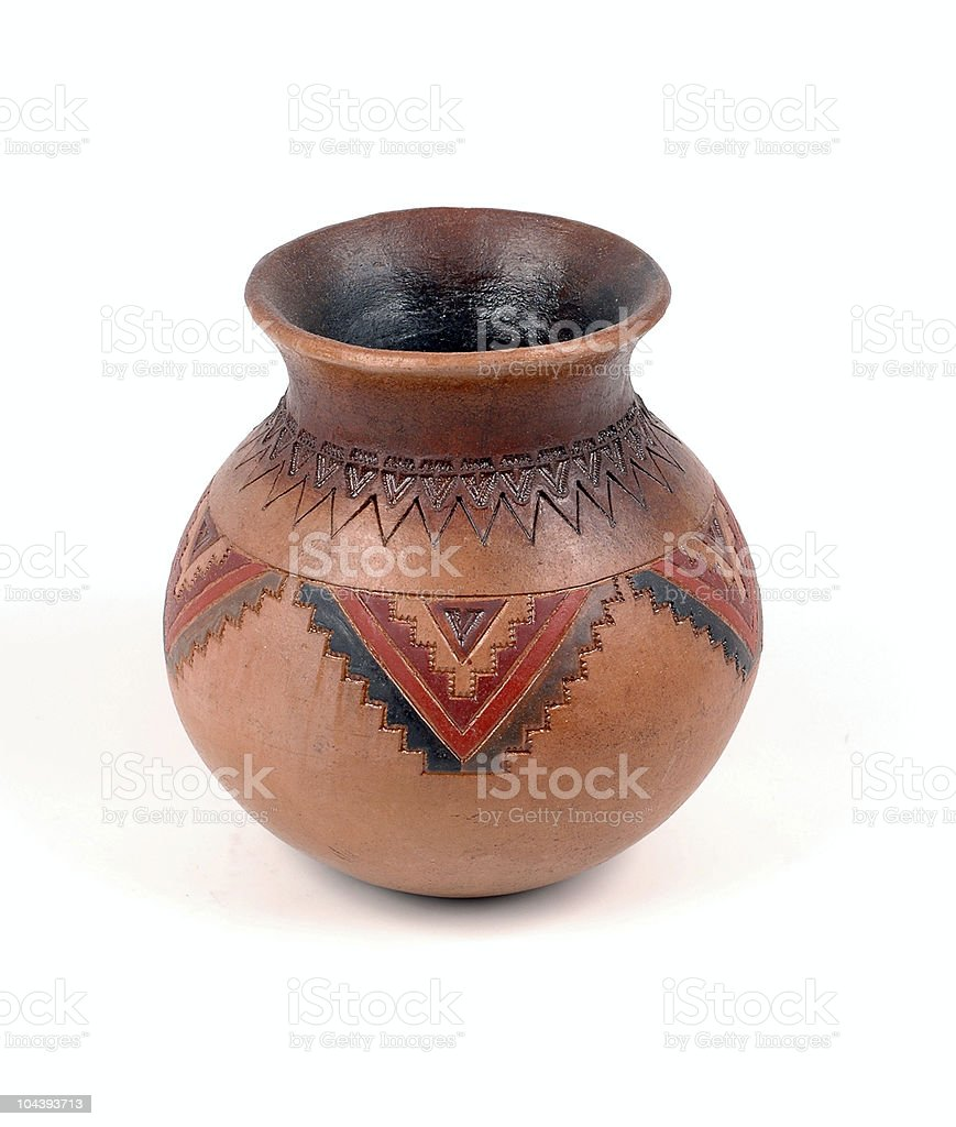Indian style pot royalty-free stock photo