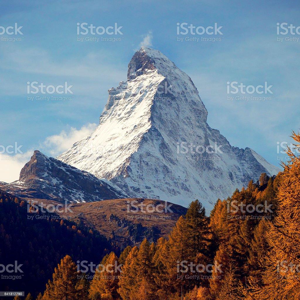 Indian Summer at Matterhorn, Zermatt, Switzerland stock photo