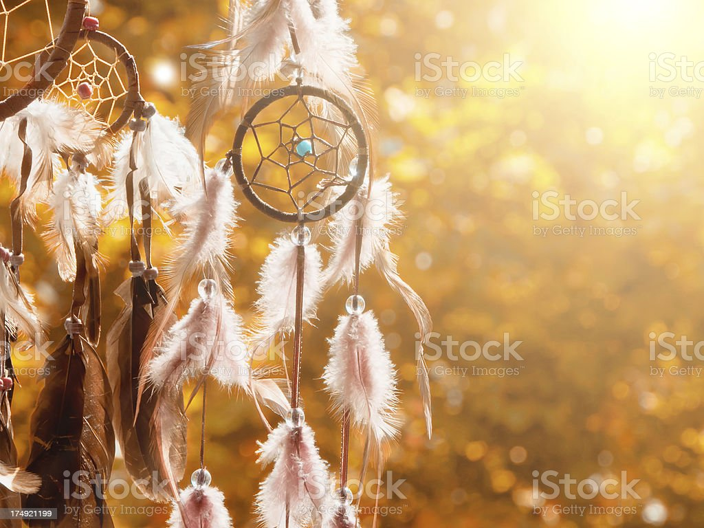 Indian Summer - dreamcatcher stock photo
