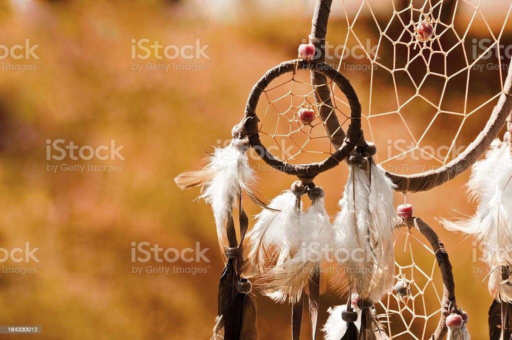 Indian Summer - dreamcatcher stock photo