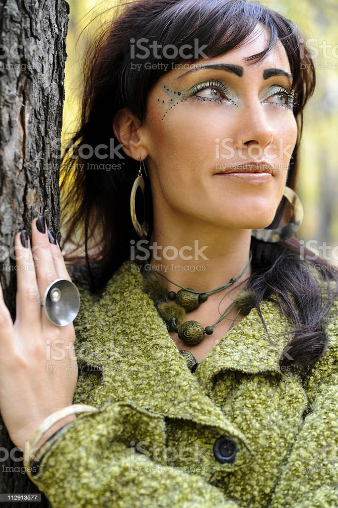 Indian summer model royalty-free stock photo