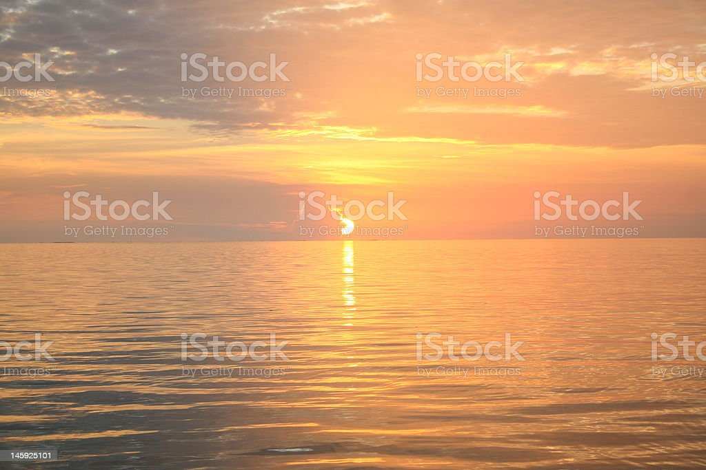 Indian Sunset royalty-free stock photo