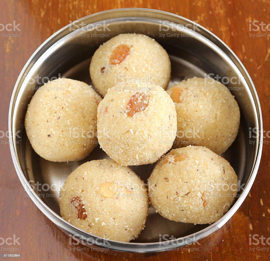 Indian Sweet Rava Laddu stock photo