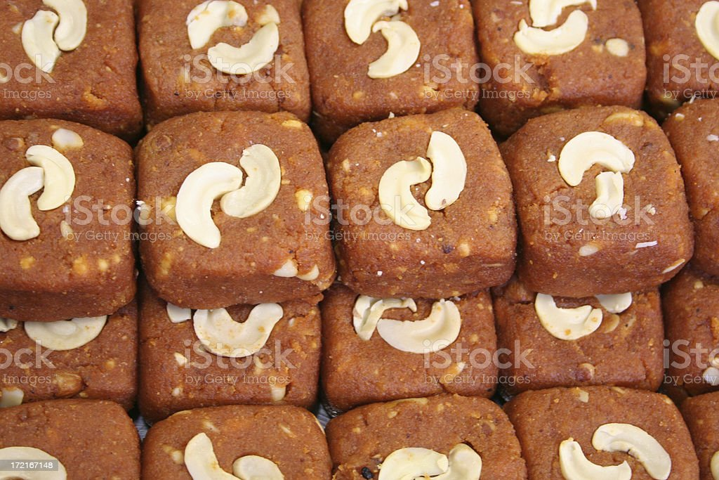 Indian Sweets Brown royalty-free stock photo