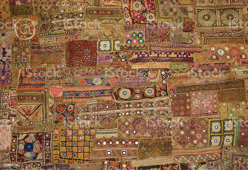 Indian Tapestry - patchwork stock photo