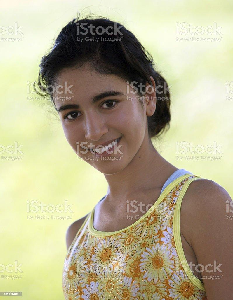Indian teen girl stock photo