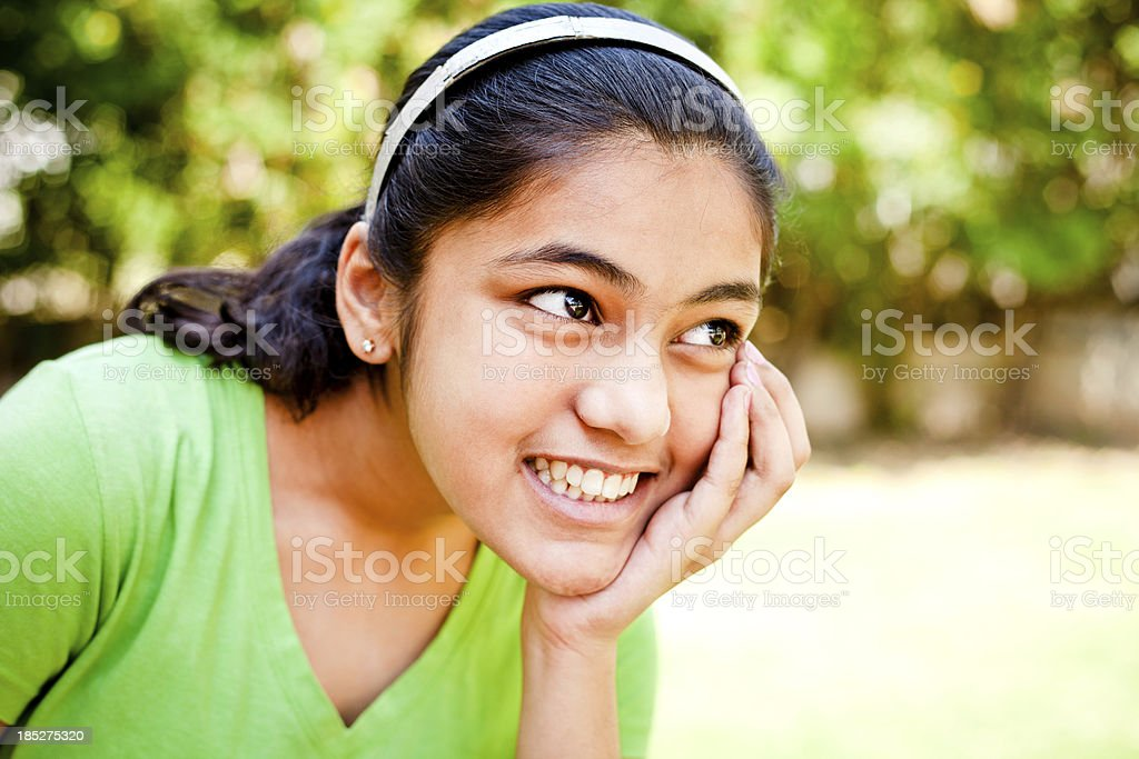 Indian Teenage Girl Outdoor Portrait royalty-free stock photo