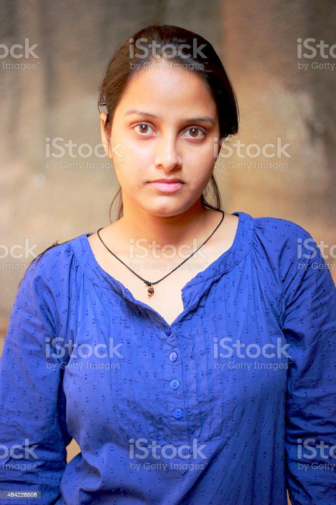 Indian teenager girl portrait stock photo