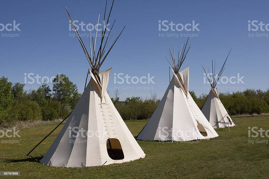 Indian Teepees royalty-free stock photo