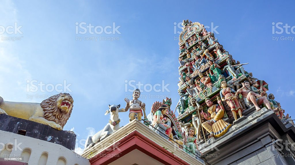 Indian Temple, Singapore stock photo