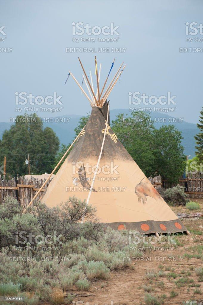Indian Tepee stock photo