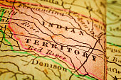 Indian Territory on an Antique map
