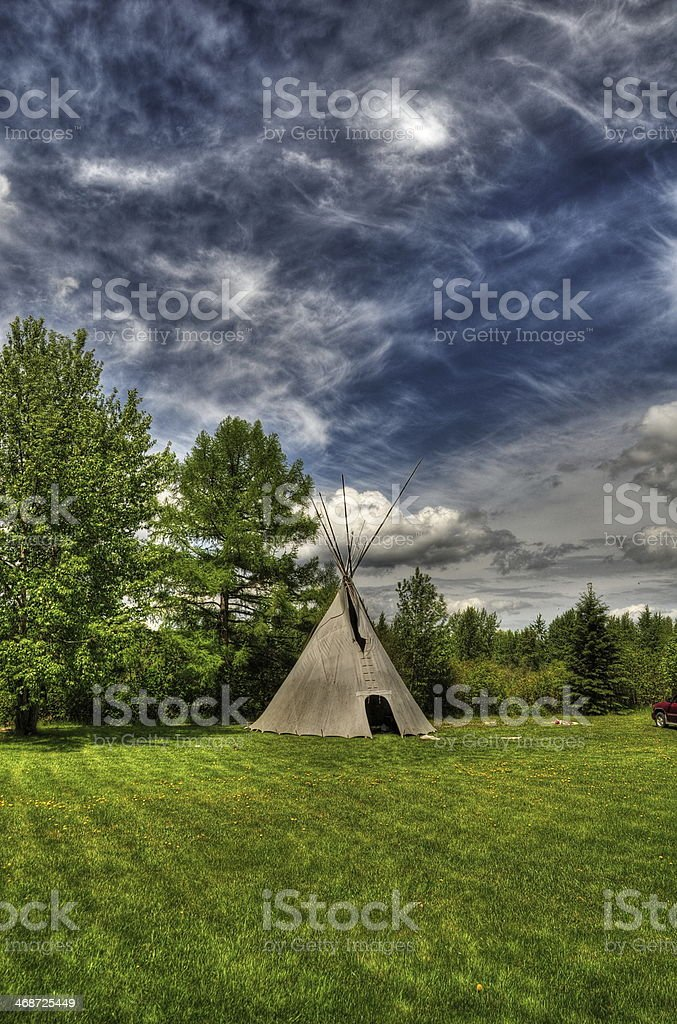 Indian tipi royalty-free stock photo
