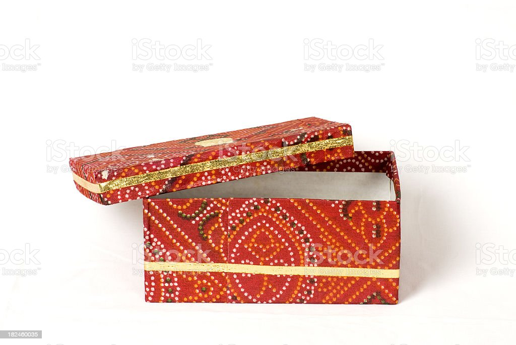 Indian traditional red cloth box open royalty-free stock photo