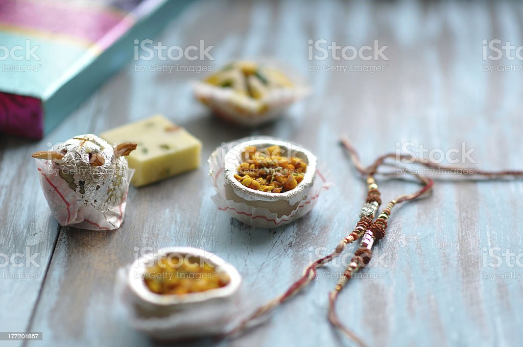 Indian traditional sweets stock photo