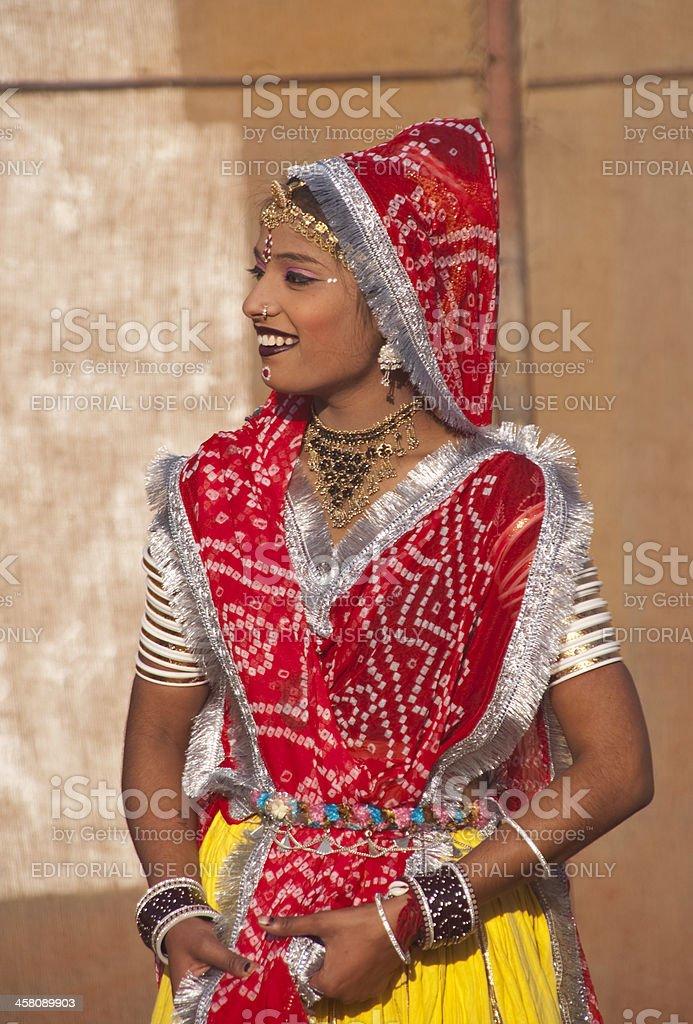 Indian Tribal Dancer stock photo
