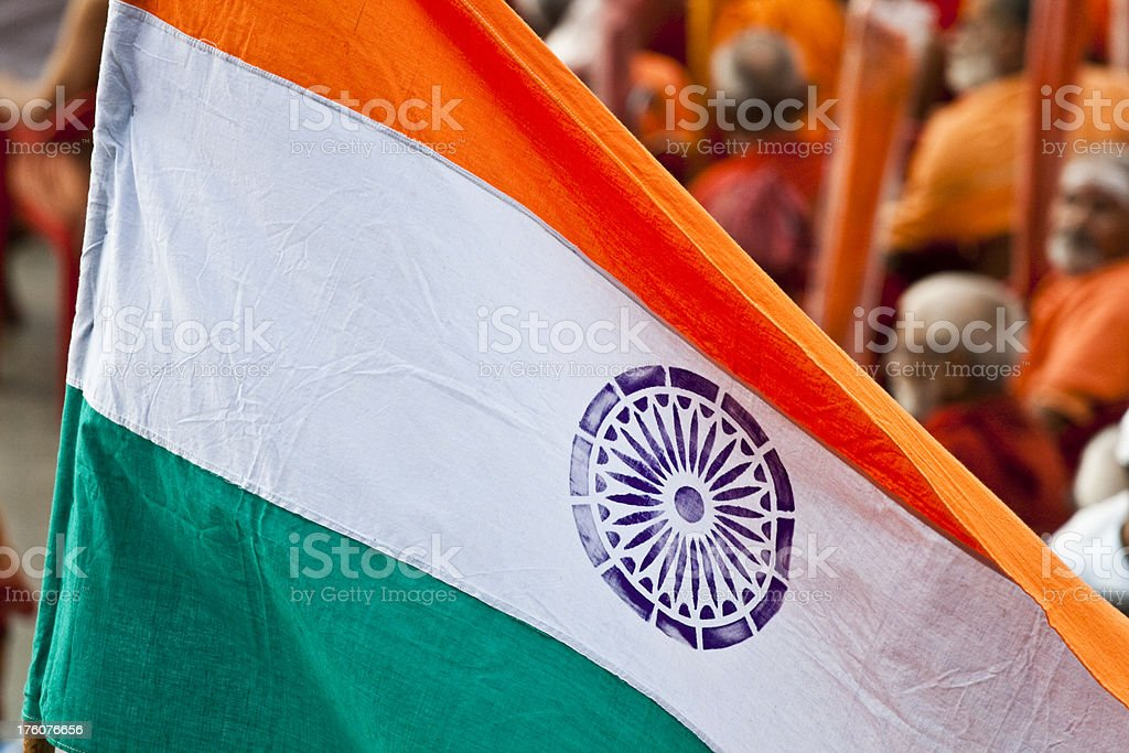 Indian Tricolor flag stock photo