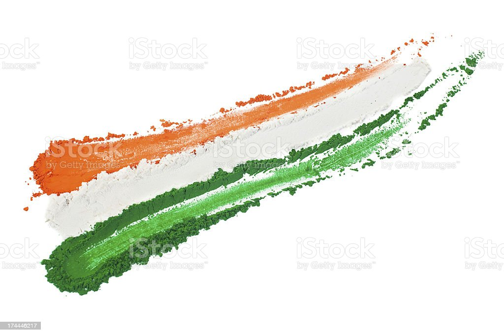 Indian Tricolor royalty-free stock photo