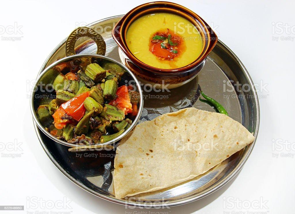 Indian vegetarian platter stock photo
