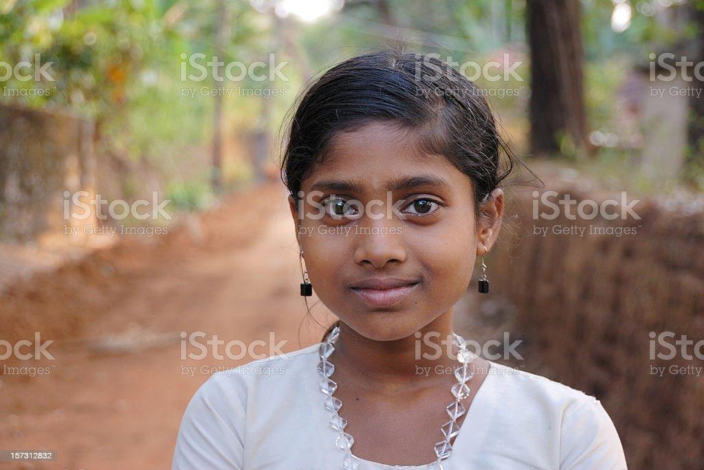 indian village girl royalty-free stock photo