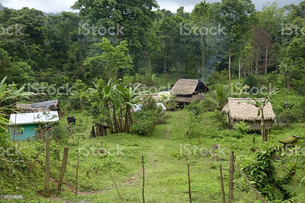 Indian Village in Costa Rica stock photo