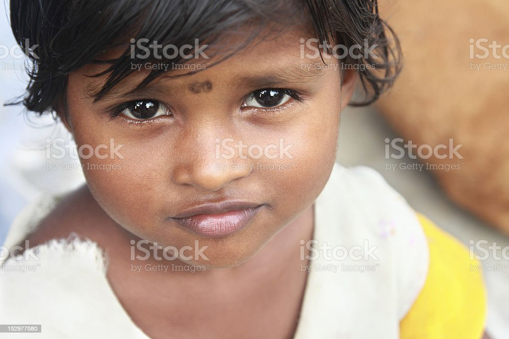 Indian Village  Little Girl royalty-free stock photo