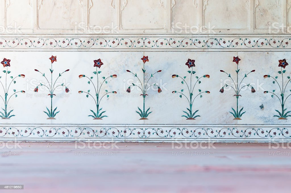 Indian wall decoration stock photo