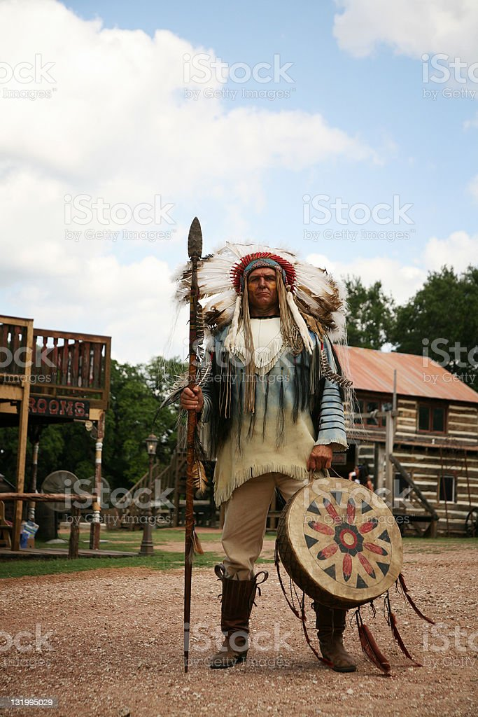 Indian war chief royalty-free stock photo