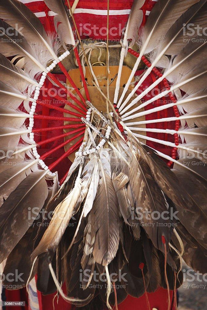 Indian Warrior Headdress Feathers stock photo