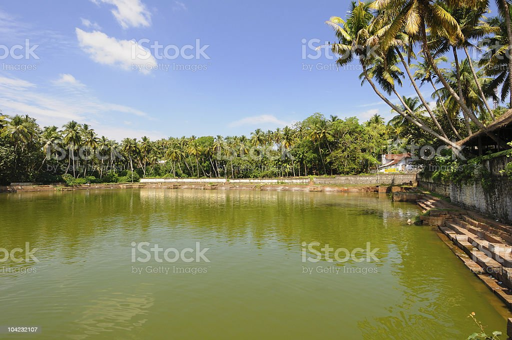 Indian water tank stock photo