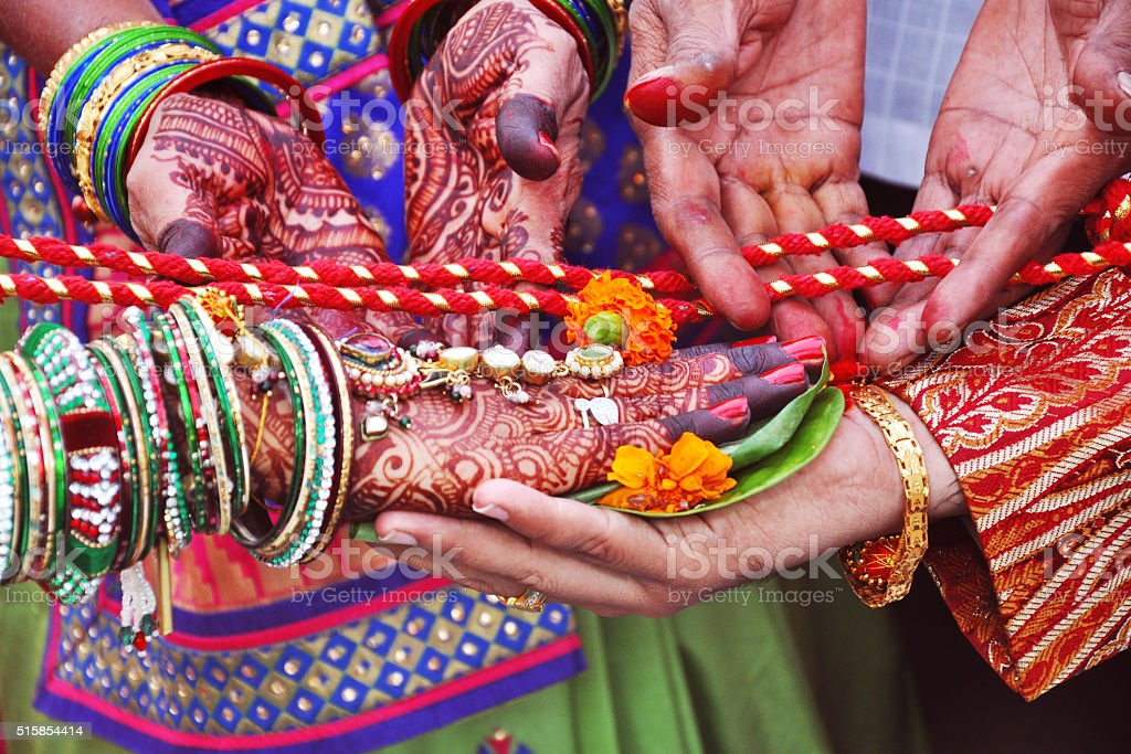 Indian Wedding Close-Up stock photo