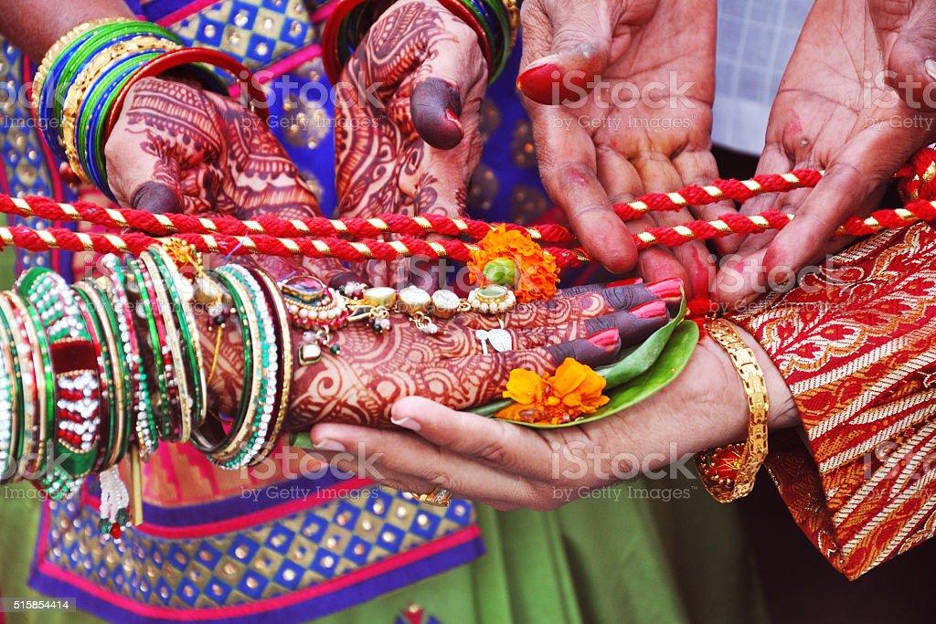 Indian Wedding Close-Up stock photo