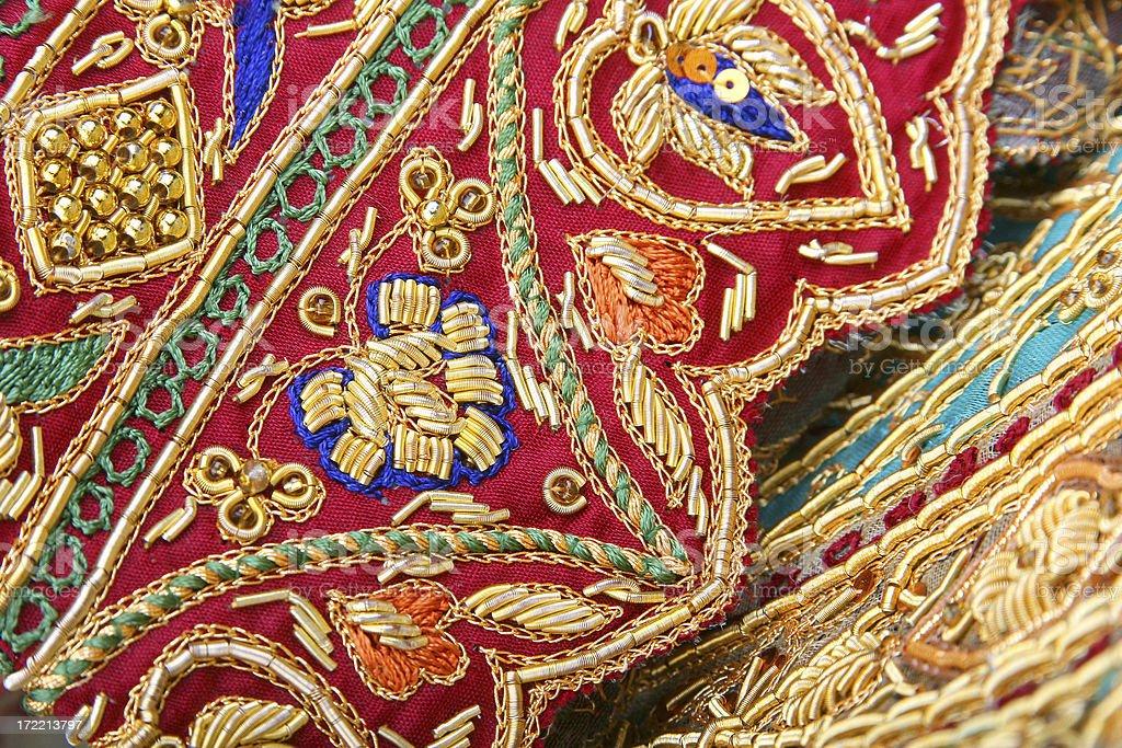 Indian Wedding Dress Details royalty-free stock photo