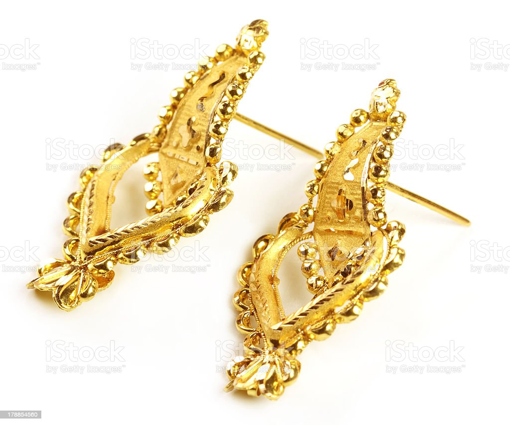 Indian wedding earrings royalty-free stock photo