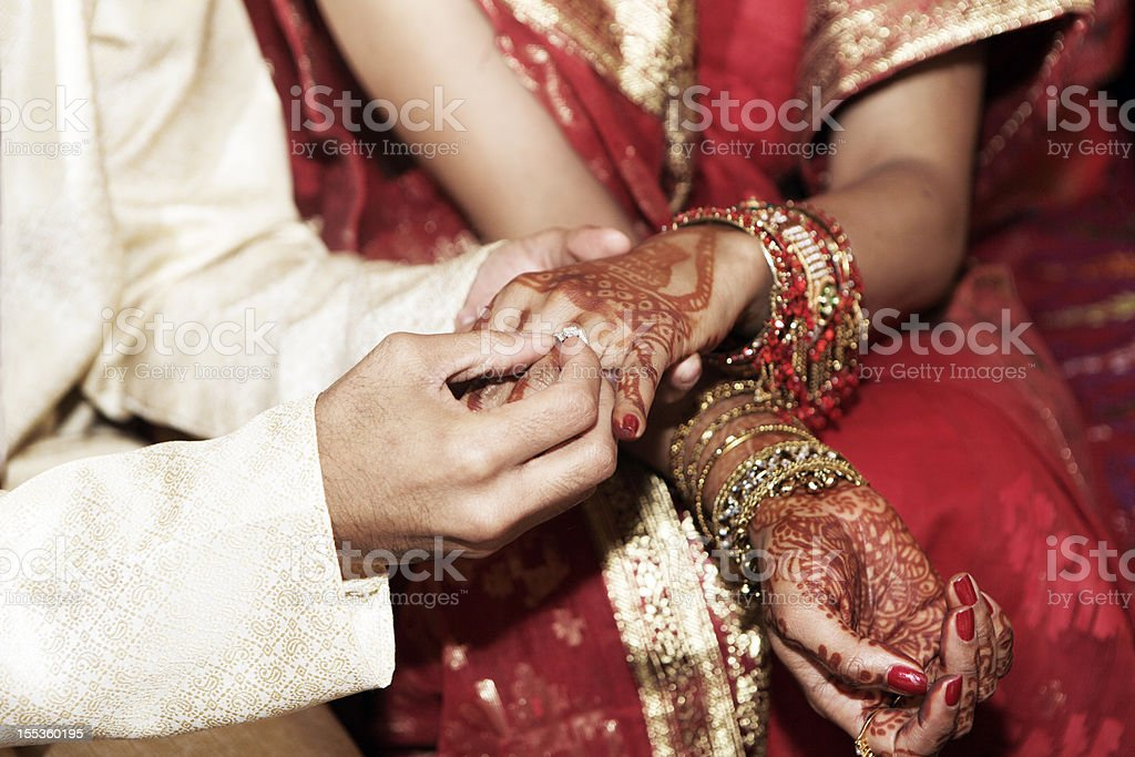 Indian Wedding Rings stock photo