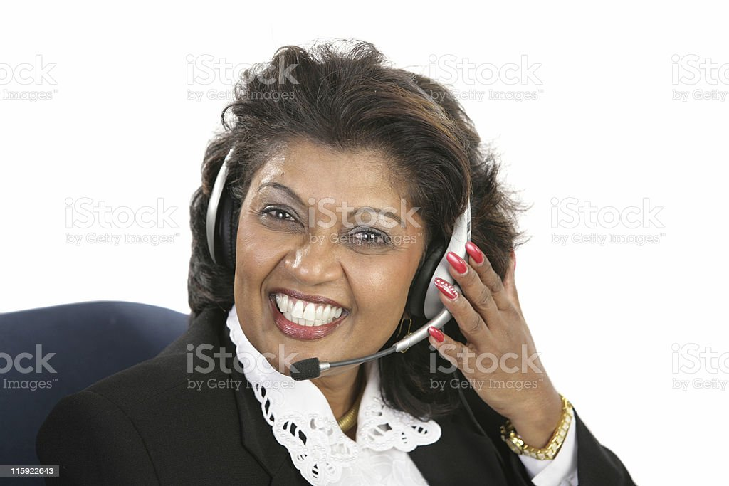 Indian Woman - Friendly Service royalty-free stock photo