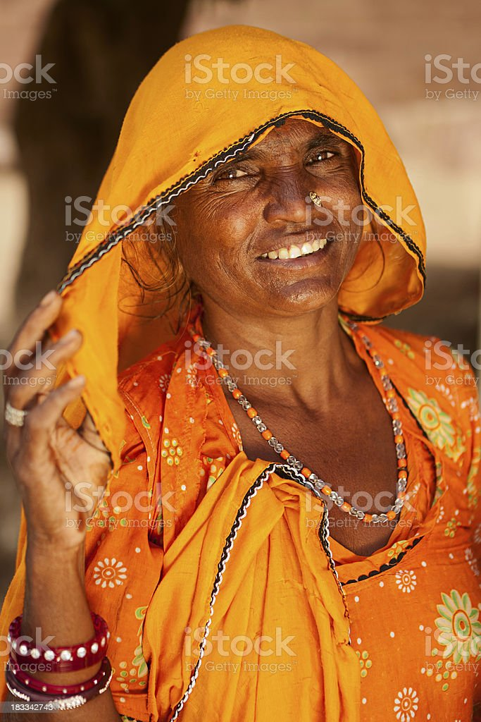 Indian woman in traditional clothing. Jodhpur, Rajasthan royalty-free stock photo