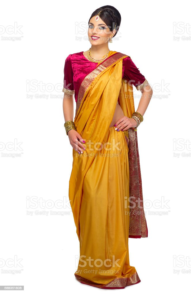 Indian woman isolated stock photo